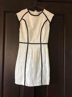Tight mini dress white