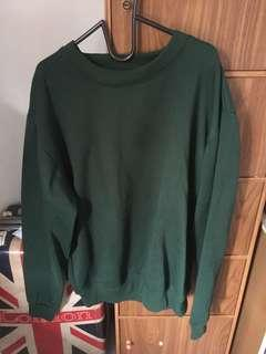 sweater oversized dark green