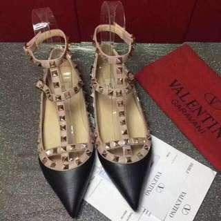 Valentino Flats Genuine Leather