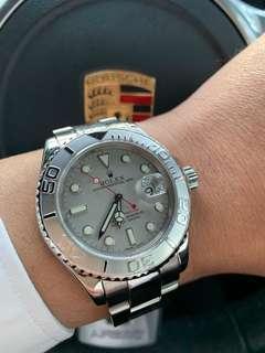 Excellent Rolex Yacht Master 16622 Platinum Bezel & Dial