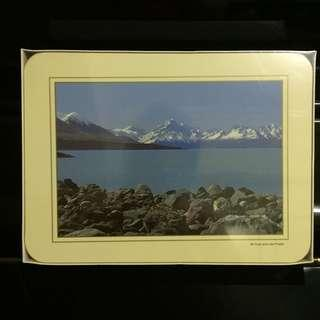 New Zealand scenery placemats