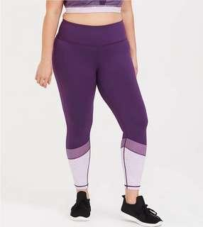 🚚 New Plus Size Purple Sports Yoga Tights 4XL