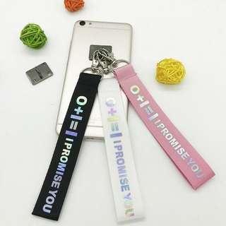 🚚 WANNA ONE 0+1=1 Reflective Colourful Laser Name Strip Keychain Lanyard