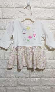 Baby long sleeve dress (3-6M)