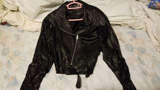 Leather Jacket意大利真皮全新