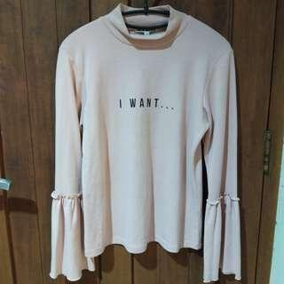 "BABY PINK ""I WANT..."" SHIRT BY ISLA MODE"
