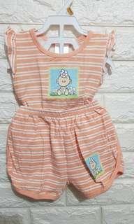 Baby orange terno (6-12M)