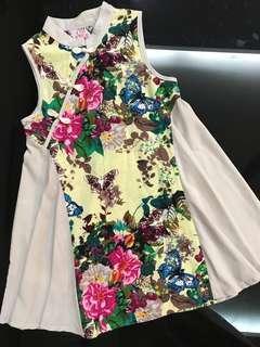 Girl chinese flower dress