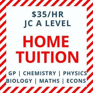 JC Tutor |  JC Tuition | A Level Home Tuition | JC1 JC2 H1 H2 Physics Chemistry Biology Econs Economics General Paper Accounts GP Maths Mathematics English Literature| Junior College Private Home Tuition Teacher | Papers Notes | Tuition Revision