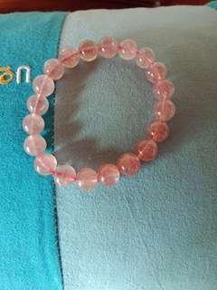 草莓晶手珠