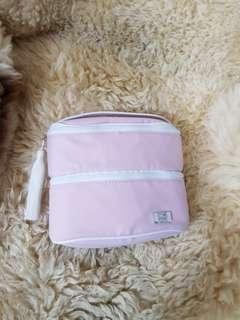 🚚 Christian Dior粉紅色流蘇雙層化妝/彩妝包(正品)