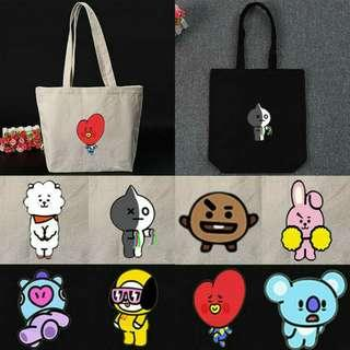 🔥BTS BT21 CANVAS totebag / SHOULDER BAG