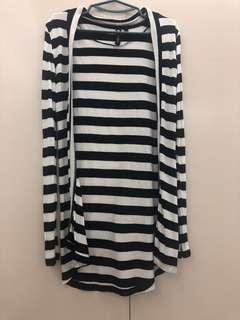For petite girls! Pre-loved Cotton On Stripes Cardigan