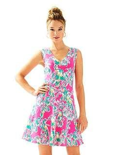 Dress Burung Beo Pink Big size