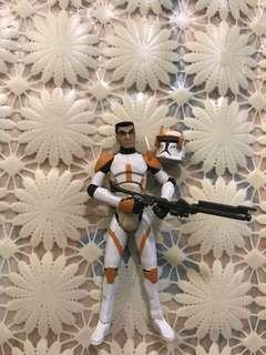 3.75 clone wars trooper commended Cody captain