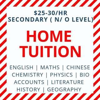 O Level Tutors |  Secondary Tuition | N O Level Home Tuition | AEIS | 1 to 1 Private Tuition Teacher | English Literature Maths Mathematics POA Accounts Accounting Science Physics Chemistry Biology Geography History Higher Chinese | Sec 1 2 3 4 5
