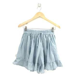 Light Blue Skort (Garterized)