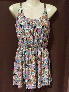 Printed floral dress - light