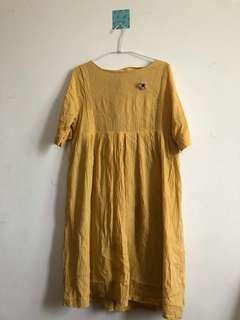 🚚 小黃花洋裝