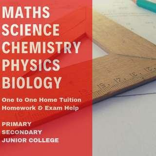 Private Maths Tutor | Primary Secondary JC Maths Science Biology Physics Chemistry Tuition | AEIS | PSLE N O A level Diploma Degree Uni Tutor | JC1 JC2 H1 H2 IB IP Maths | Sec 1 2 3 4 5 | P1 P2 P3 P4 P5 P6 |  Looking For Tuition Teacher