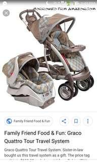 Graco travel system. Stroller, carrier, car seat
