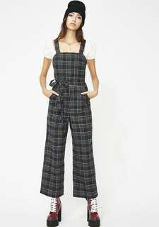 Dolls Kill plaid jumpsuit