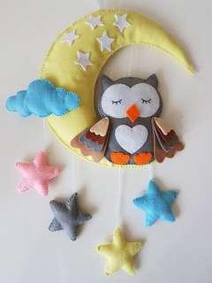 🚚 Handmade Owl hanging decor