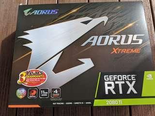 🚚 Gigabyte AORUS RTX 2080 Ti Xtreme Edition 11G GDDR6 4 Year Local Warranty