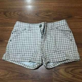 Mango Checkered Shorts