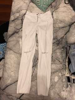 Highwaisted white jeans