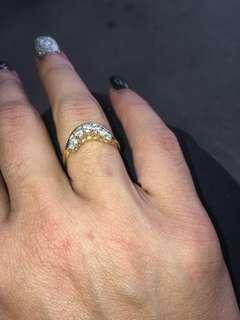 18 carat gold stamped diamond ring I don't wear gold no more spent a lot on it selling for 200 negotiable please no time wasters happy for pick up or can post with tracking