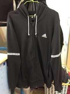 🚚 Adidas連帽外套(9成新)Size:XL