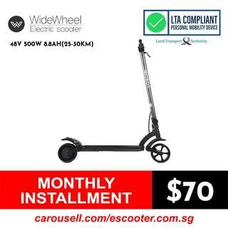 Mercane WideWheel 48V 500W 8.8Ah(25-30Km) Electric Scooter