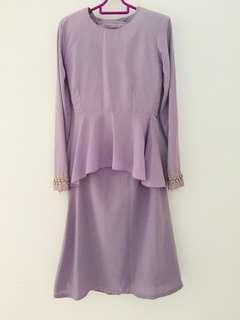 Kurung Peplum (Light Purple)