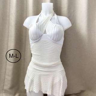 white 1piece swimsuit
