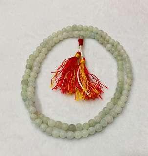 🚚 Burma Jade Prayer beads Mala nacklace, original untreated A Jade