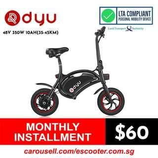 DYU 36V 350W 10Ah(35-45Km) Seated Electric Scooter (Limited stocks!!!)