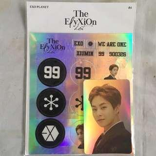 EXO Xiumin Hologram Sticker and Pc
