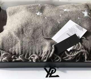 澳洲品牌 YPL  Alpaca Wool Scarf 星空羊駝絨圍巾 Grey 灰色