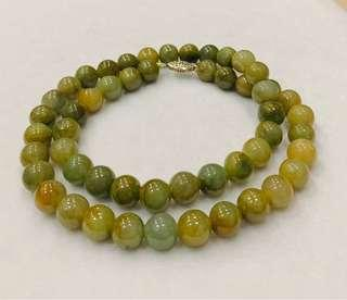 🚚 Burma Authentic Jadeite Jade (A Jade) beads necklace, Original untreated