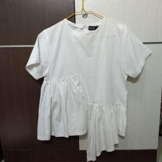 Shop Inc White Asymmetric Top/Blouse