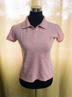 Collared Salmon Pink Polo Shirt