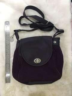 Lulu purple shoulder bag
