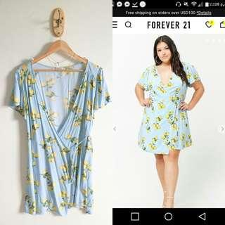 FOREVER 21 PLUS SIZE LEMON DRESS