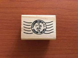 Airmail rubber stamp