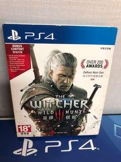 PS4 the Witcher 3 wild hunt 中文版