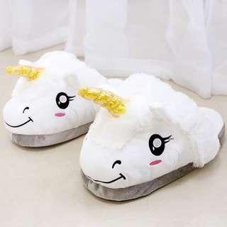Unicorn Fluffy Slip-ons
