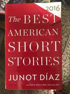 The Best American Short Stories 2016 edited by Junot Diaz