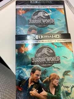 100% new Jurassic world Fallen Kingdom 4K & Blu ray