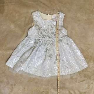 Baby Silver White Party Sunday Dress